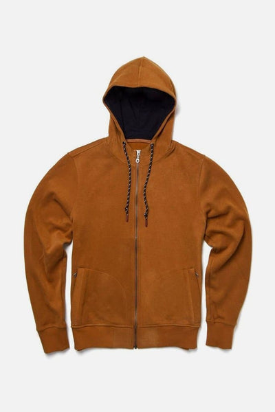 Bridge & Burn strand ochre men's zip up sweatshirt