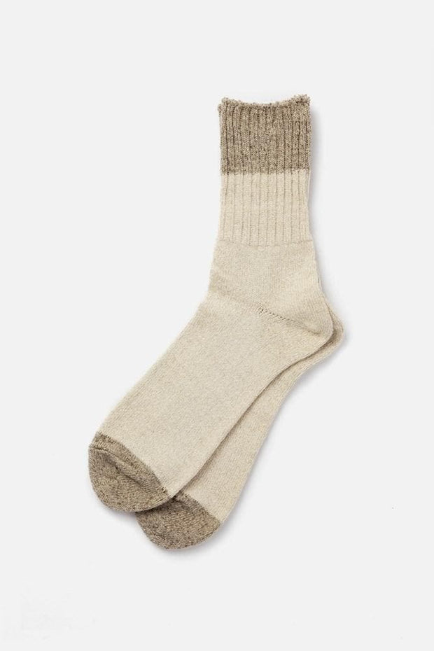 Anonymous Ism Recycled Linen Silk Socks Natural