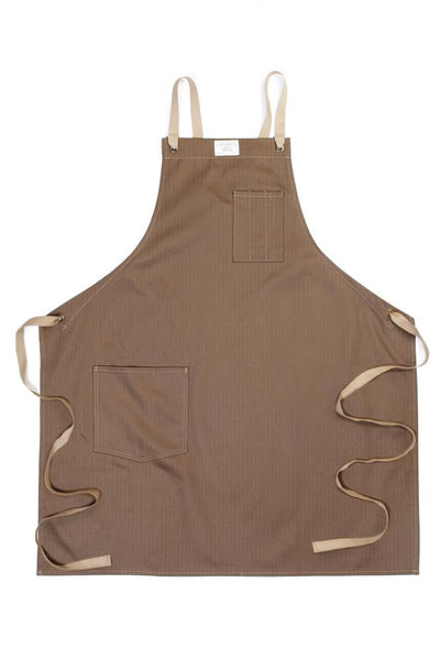 Artifact Culinary Apron Khaki Herringbone
