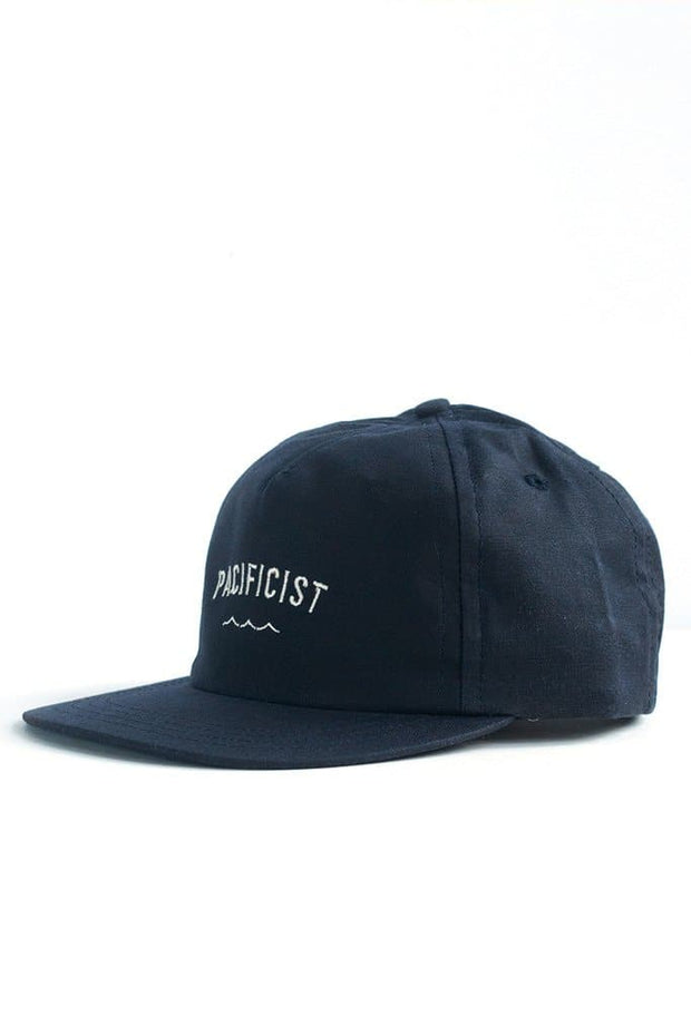 Bridge & Burn Pacificist Cap Navy Waxed Canvas
