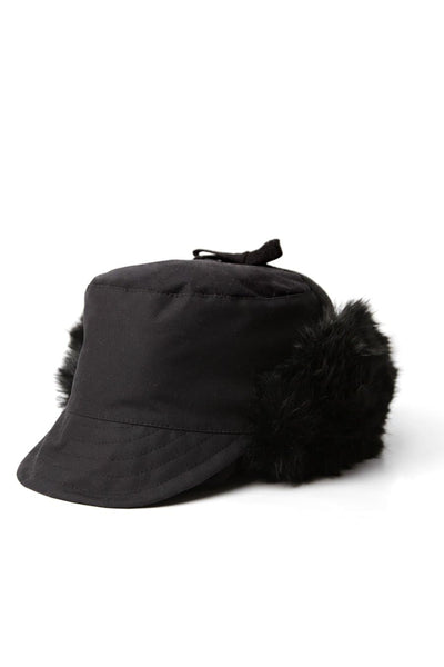Bridge & Burn x Tsuyumi Trapper Hat Black