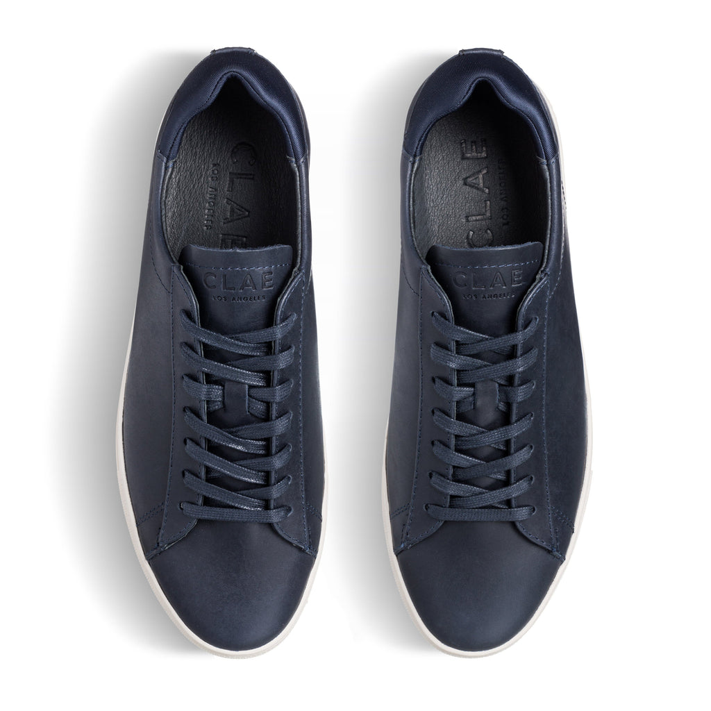 Clae Bradley Navy Full Grain Leather