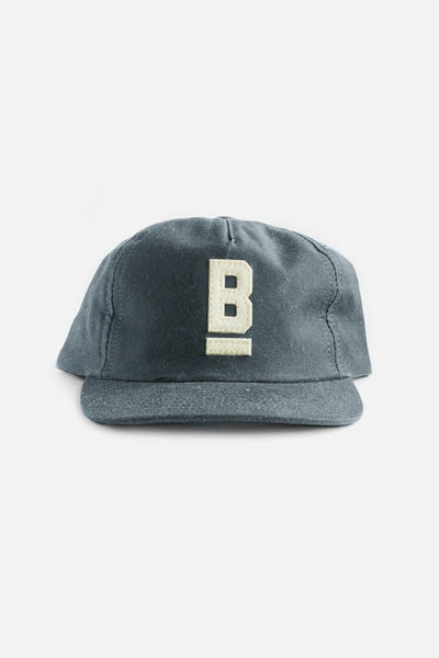 B Flat Cap Slate Waxed Canvas
