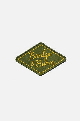 Diamond Logo Woven Patch Olive