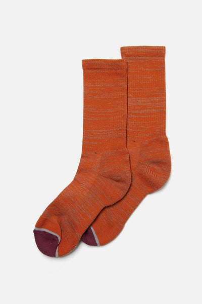 Marl Sock Burnt Orange