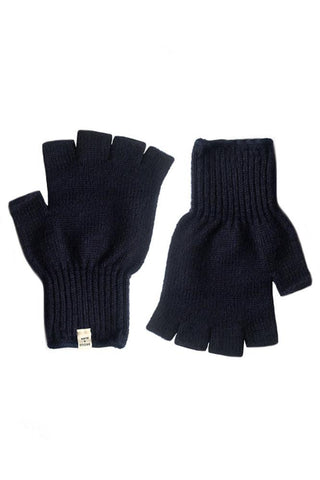 Men's Ragg Wool Fingerless Glove Navy