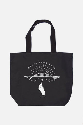 Never Look Back Tote Black