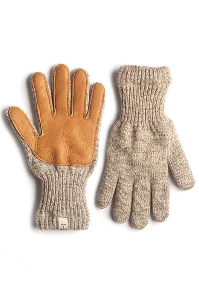 Women's Lined Ragg Wool Glove Oatmeal Tan
