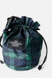 Bags in Progress Mini Drawstring Shoulder Blackwatch Plaid
