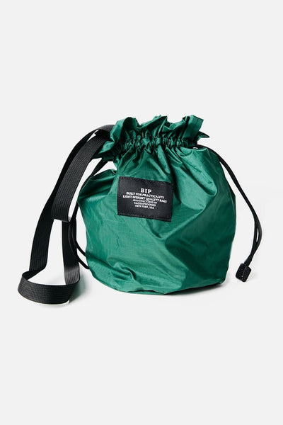 Bags in Progress Mini Drawstring Shoulder Dark Green