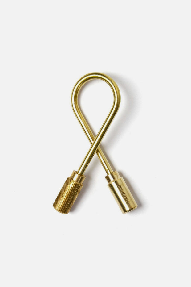 Craighill Helix Keyring Brass