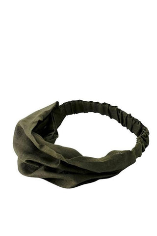 Fog Linen Hair Band Olive