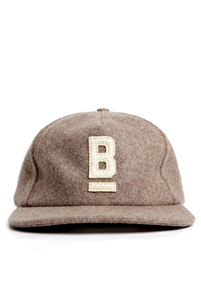 B Flat Wool Cap Heather Taupe