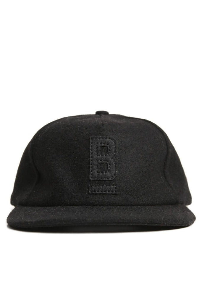 B Flat Wool Cap Blackout