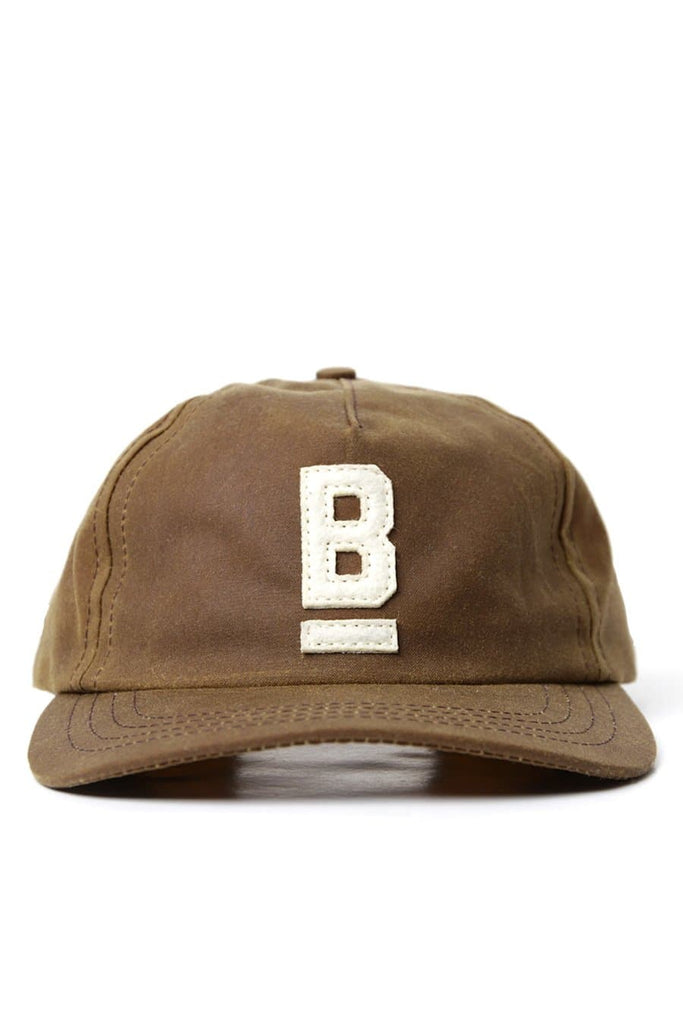 B Flat Cap Brown Waxed Canvas