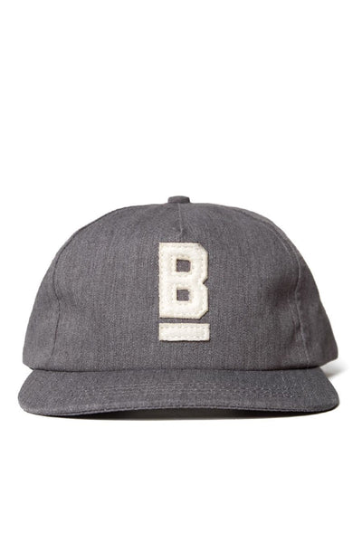 B Flat Cotton Twill Cap Charcoal