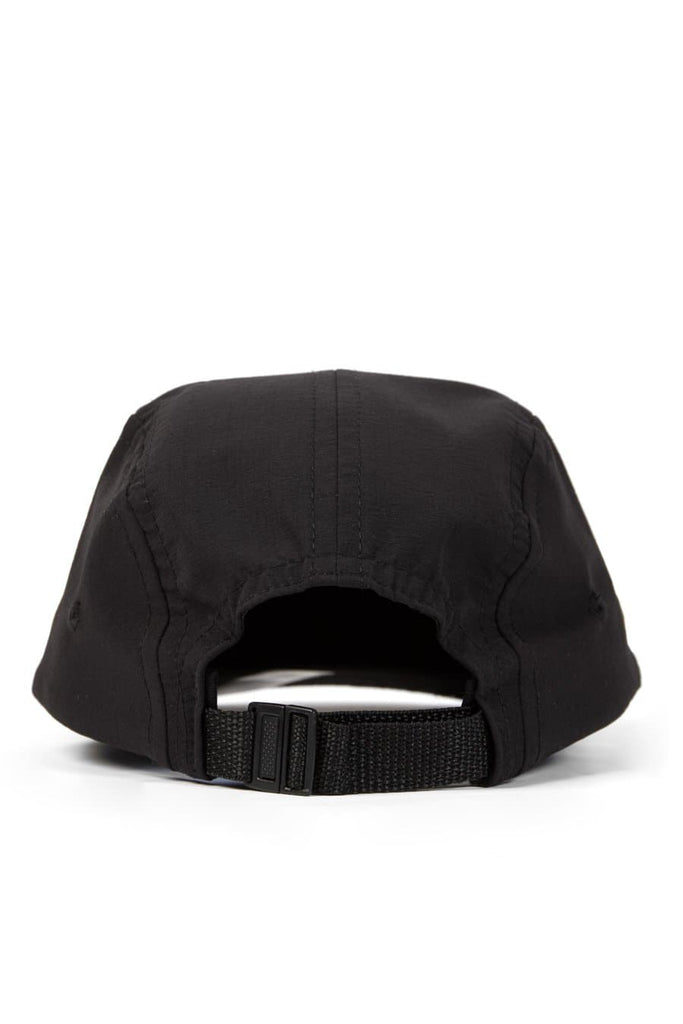 Camper 5 Panel Cap Water Resist Ripstop Black