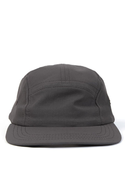 Camper 5 Panel Cap Water Resist Ripstop Grey