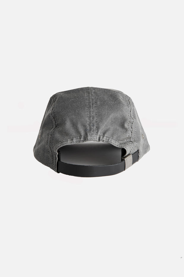 Camper 5 Panel Cap Charcoal Waxed Canvas