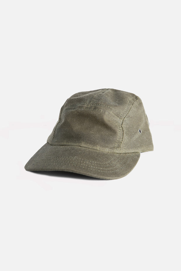 Camper 5 Panel Cap Moss Waxed Canvas