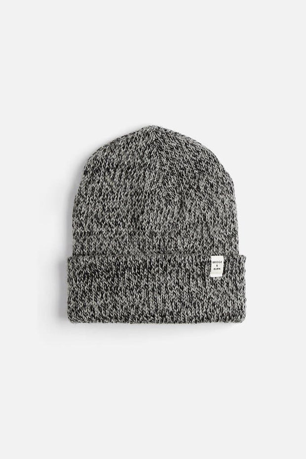 Bridge & Burn Ragg Wool Watch Cap Charcoal