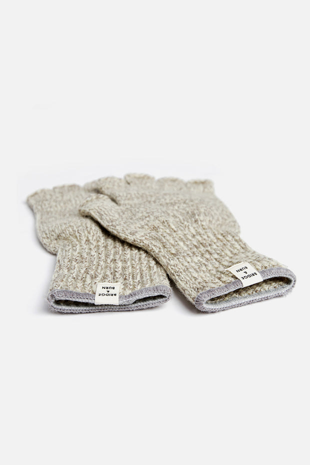 Women's Ragg Wool Fingerless Glove Oatmeal