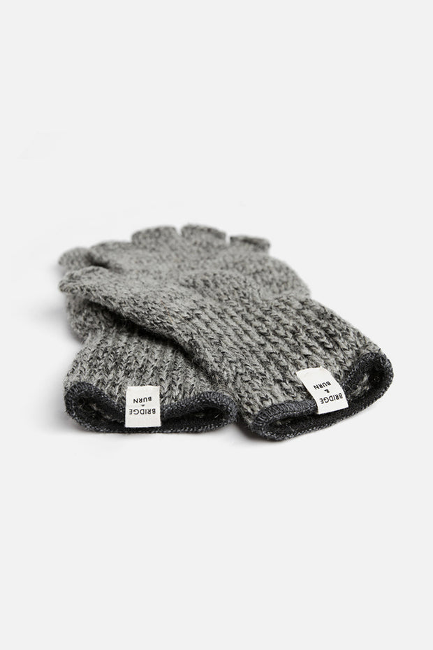 Men's Wool Fingerless Gloves