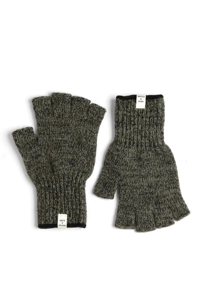 Men's Ragg Wool Fingerless Glove Moss