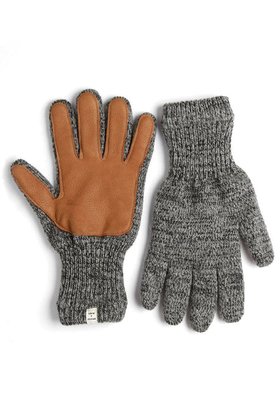 Men's Lined Ragg Wool Glove Charcoal Chestnut