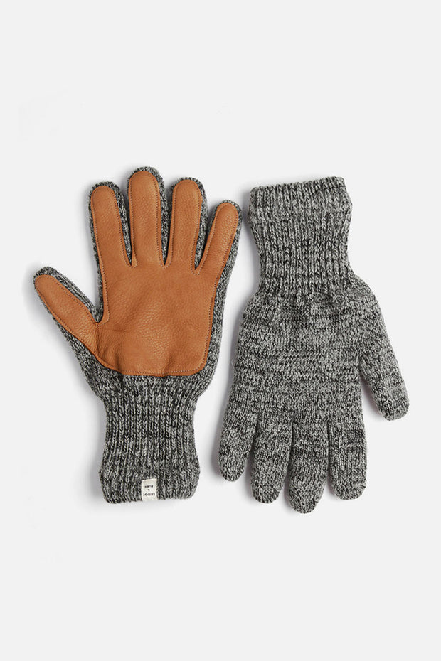 Men's Lined Ragg Wool Glove Charcoal Saddle
