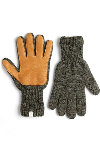 Men's Lined Ragg Wool Glove Moss Saddle