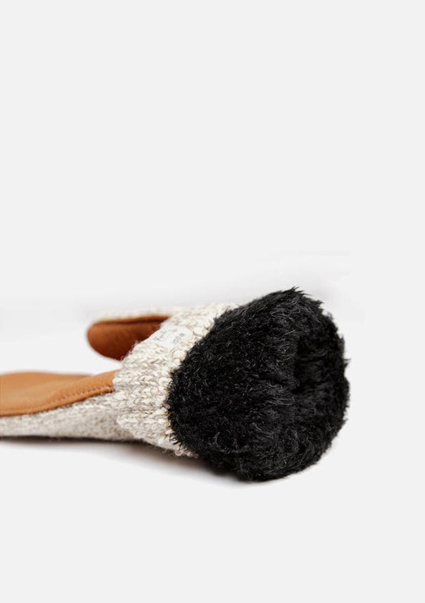 Women's Lined Ragg Wool Mitten Oatmeal Tan