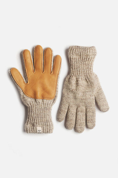 Women's Lined Ragg Wool Glove Oatmeal Saddle