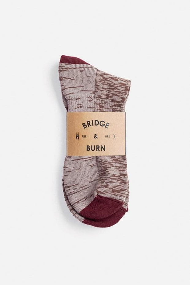 Bridge & Burn Men's Cotton Marl Sock Oatmeal