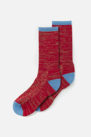 Bridge & Burn Men's Cotton Marl Sock Red