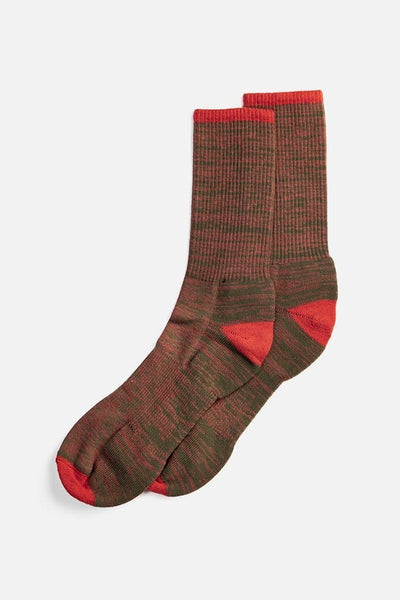 Bridge & Burn Men's Cotton Marl Sock Brown
