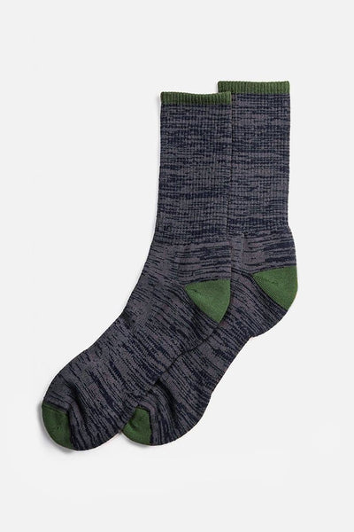 Bridge & Burn Men's Cotton Marl Sock Navy
