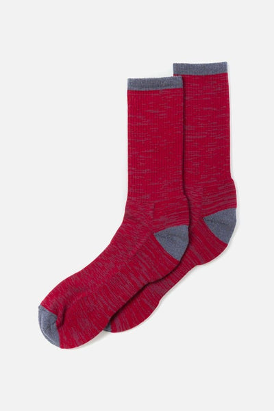 Bridge & Burn Women's Cotton Marl Sock Red