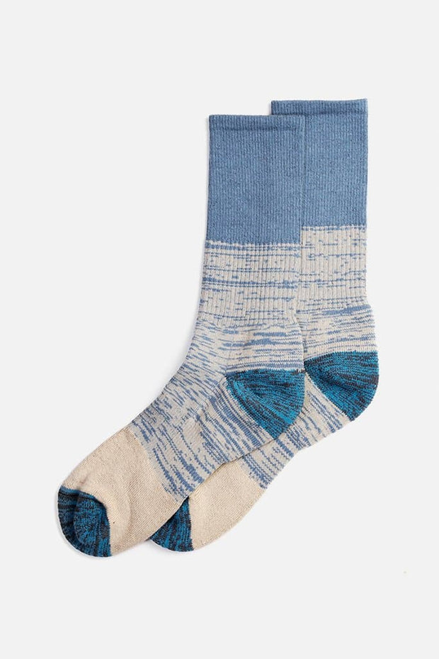 Bridge & Burn Women's Cotton Colorblock Marl Sock Blue Combo