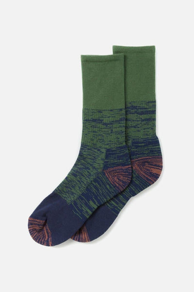 Bridge & Burn Women's Cotton Colorblock Marl Sock Olive Combo