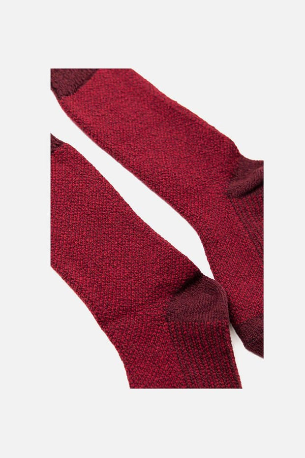 Bridge & Burn Women's Helix Sock Burgundy