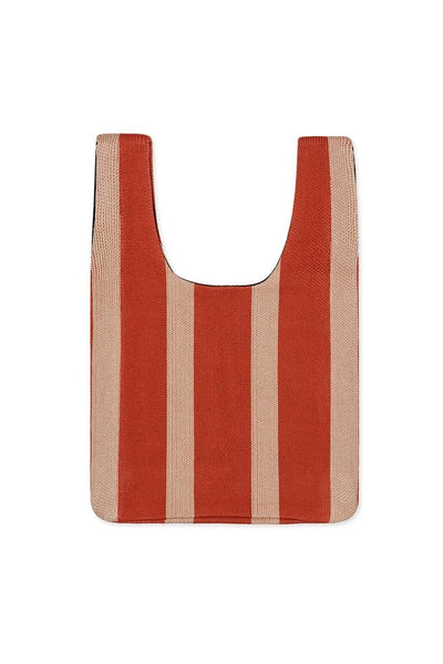 Hansel From Basel Shopper Bag Rust Stripe
