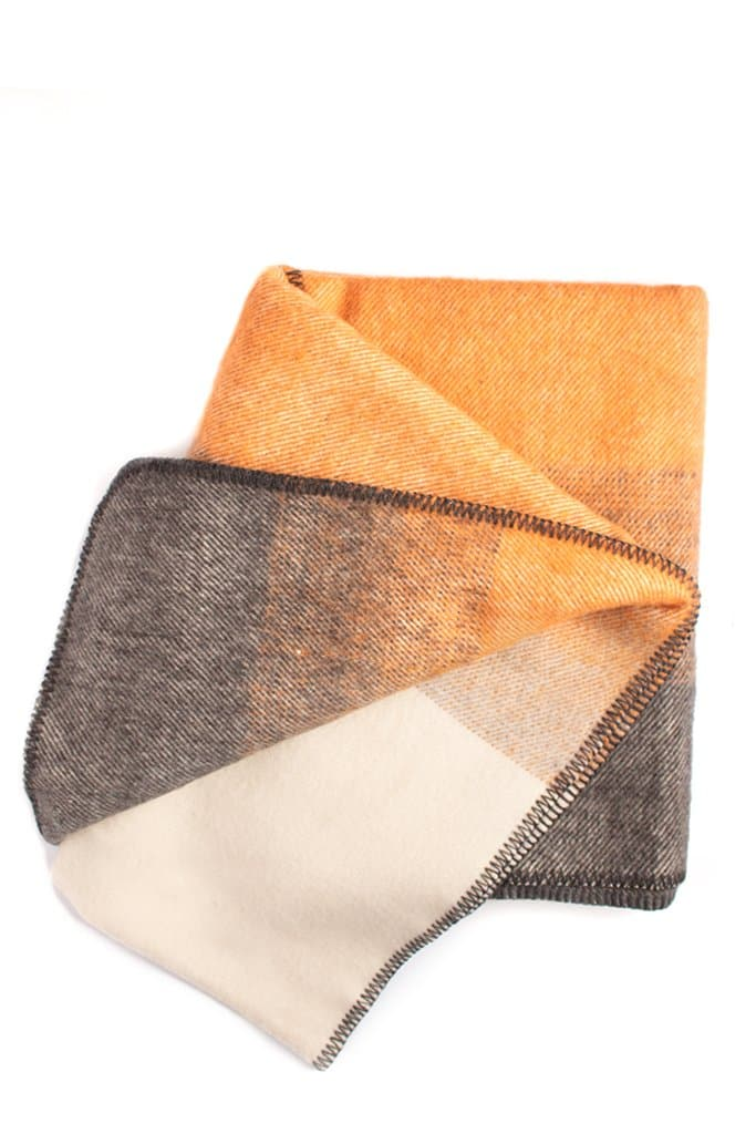 Imperial Yarn Heritage Ombre Throw Charcoal/Amber/Pearl Gray