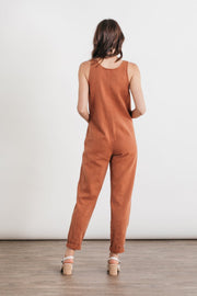 Jungmaven Button Front Jumper Terracotta