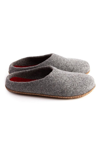 Kyrgies Low Back Slippers Grey Red