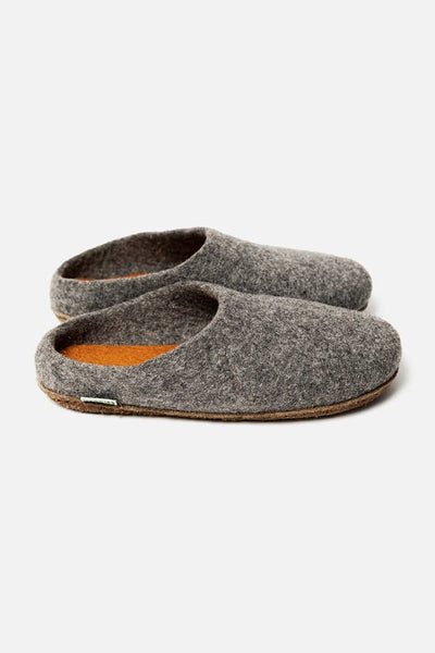 Kyrgies Low Back Slippers Grey Orange