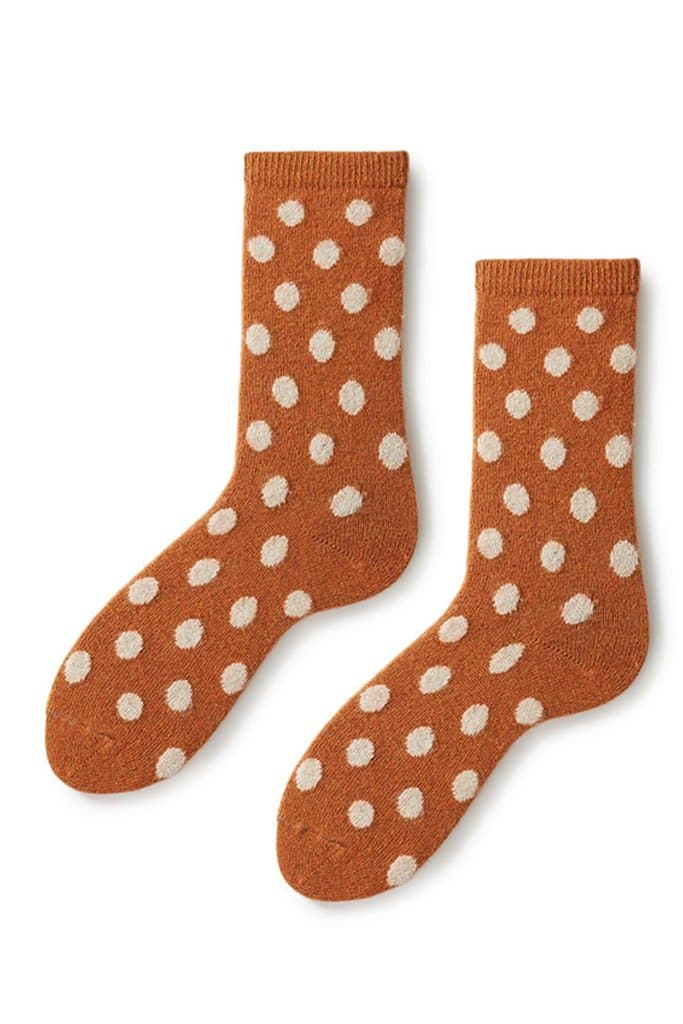 Lisa B Women's Classic Dot Socks Toffee