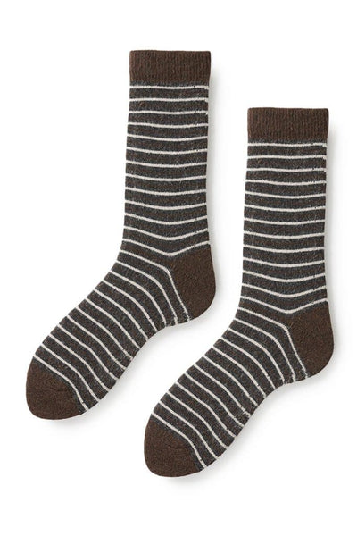 Lisa B Women's Pin Stripe Socks Espresso