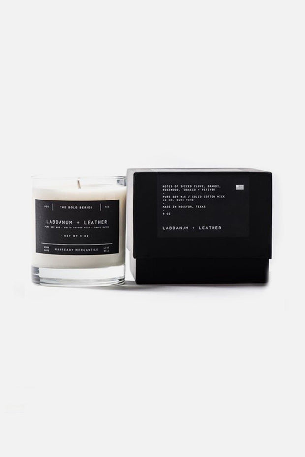 Manready Mercantile Labdanum + Leather Candle