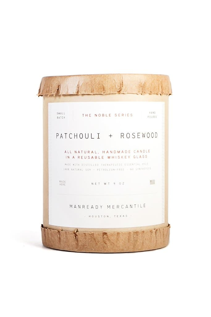 Manready Mercantile Patchouli + Rosewood Candle